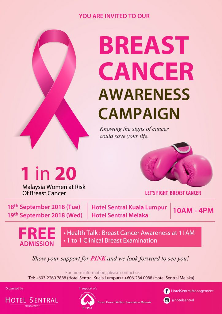 Hotel Sentral   Breast Cancer Awareness Campaign